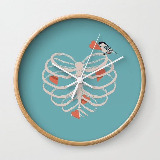 The Heart Collector Wall Clock