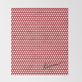 Polka Dots Red Throw Blanket