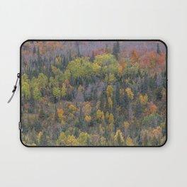 Detail of Peak Fall Colors in Northern Minnesota Laptop Sleeve
