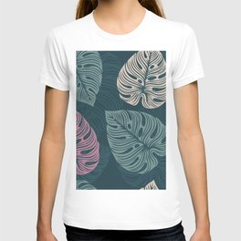 tropical leaves seamless pattern V1 T-shirt