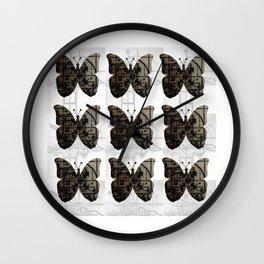 High Tech Butterflies Wall Clock