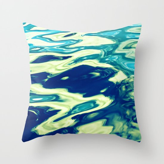 aqua agua Throw Pillow
