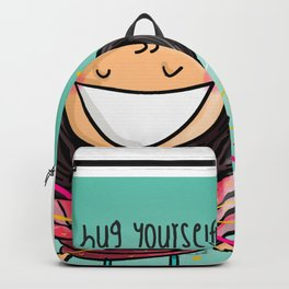 Hug Yourself #happywoman Backpack