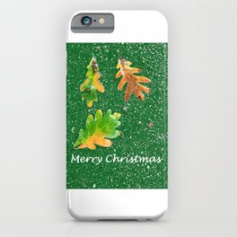 Merry Christmas card iPhone Case