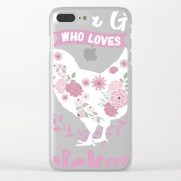 Just A Girl Who Loves Chickens Tee, Animal print Clear iPhone Case