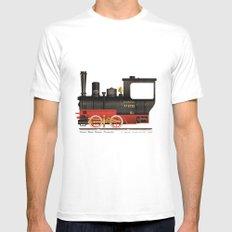 Locomotive  Mens Fitted Tee MEDIUM White