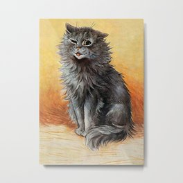 """Second Prize"" by Louis Wain Metal Print"