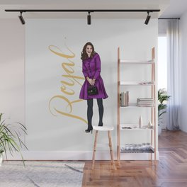 Kate in Magenta by Silvana Arias Wall Mural