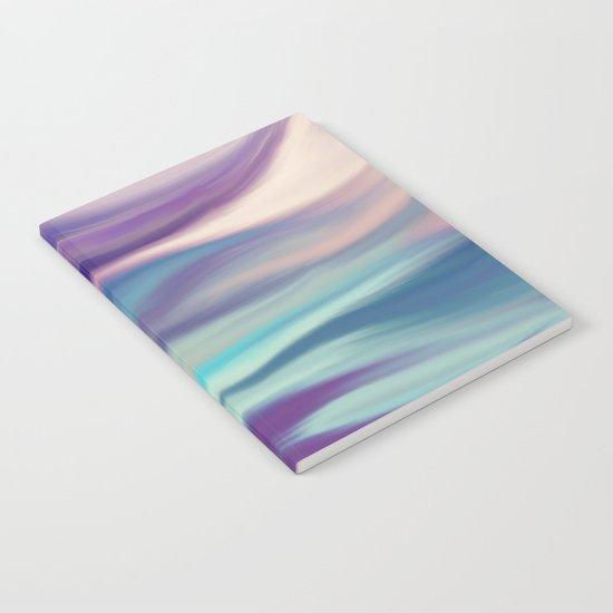 Painted digital silk texture blue colors Notebook