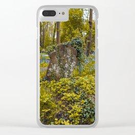 Tombstone in Highgate Clear iPhone Case