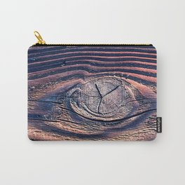 Urban Industrial Vintage Reclaimed Wood With Chic Knot Carry-All Pouch