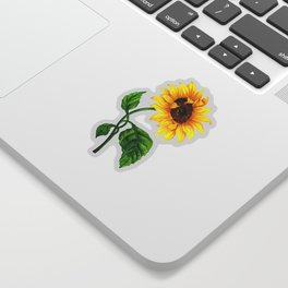Summer Spring Sunflower Sticker