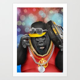 Rapper of the apes Art Print