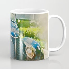 Blue Classic Car Coffee Mug