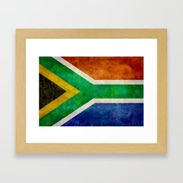 Flag of the Republic of South Africa Framed Art Print
