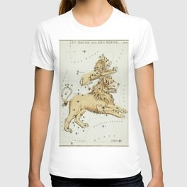 (1831) astronomical chart  of the Leo Major and the Leo Minor T-shirt