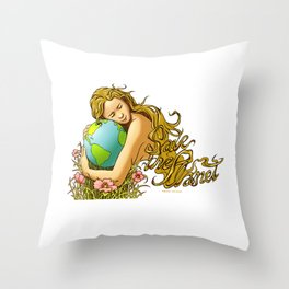 Earth Day (Save The Planet) Throw Pillow