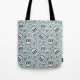 Piano smile pattern in grey Tote Bag