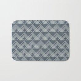 Modern Simple Geometric 5 in Peninsula Blue Bath Mat