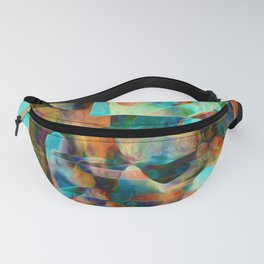 Water Pebbles and Glass Fanny Pack