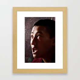 Chanting Monk Framed Art Print
