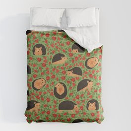 Hedgehogs and lingonberry Comforters