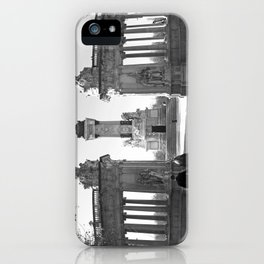 Couple at Madrid monument iPhone Case