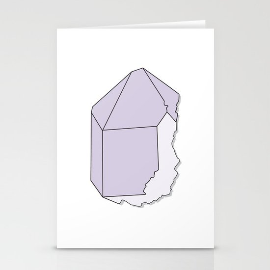 Amethyst Quartz Stationery Cards