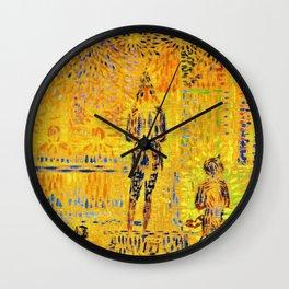Georges Seurat - Circus Sideshow, Circus parade - Digital Remastered Edition Wall Clock