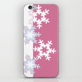 New year , snowflakes iPhone Skin
