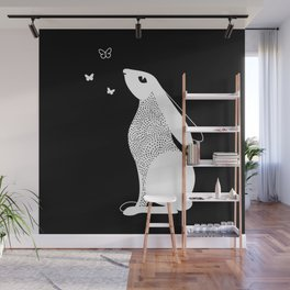 Rabbit and Butterfly Spirit Animal Wall Mural