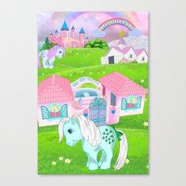 g1 my little pony dream valley Canvas Print