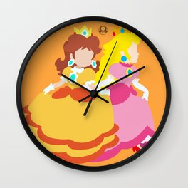Princess Daisy & Princess Peach (Sarasaland Theme) Wall Clock