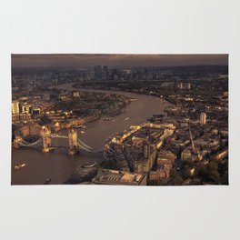 Thames Meander Cityscape Rug