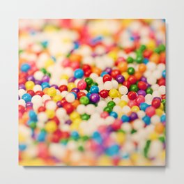 Pretty Sprinkles Metal Print