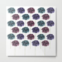 Colorful Carnation Flower Pattern Metal Print