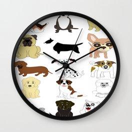 Pet dogs design Wall Clock