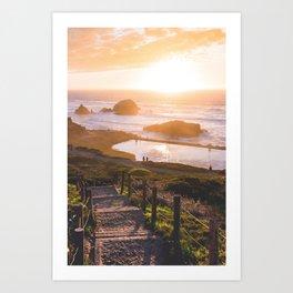 Sunset At Sutro Baths - San Francisco, CA Art Print