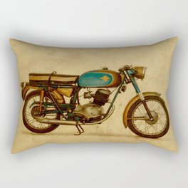 Ducat 125 Aurea 1958 motorcycle vintage bike poster Rectangular Pillow