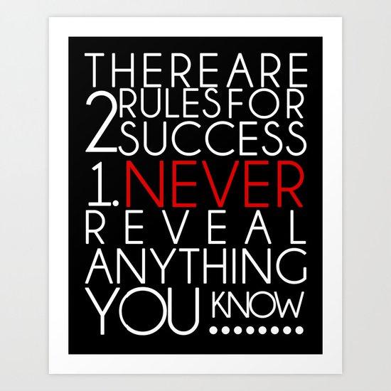 SUCCESS Art Print