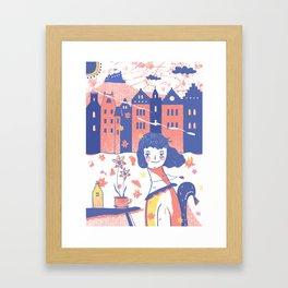 Spring in Edinburgh Framed Art Print