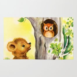 Woodland Animals & Owl's Tree Rug