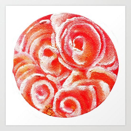Peach Plum Dreams Art Print