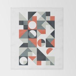Mid Century Geometric 04 Throw Blanket