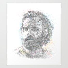 Rick Grimes - Intrepid Leader from the Walking Dead Art Print