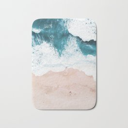 waves 01 Bath Mat