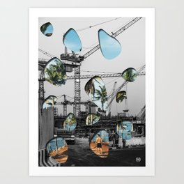 OneTimeTwoSpace/ Art Print