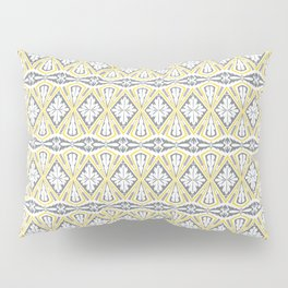 Geometrical pattern in yellow and  grey Pillow Sham