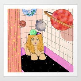 The universe in my head Art Print