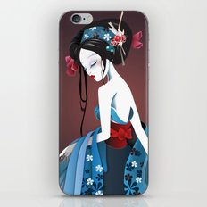 Geisha la blanche iPhone & iPod Skin